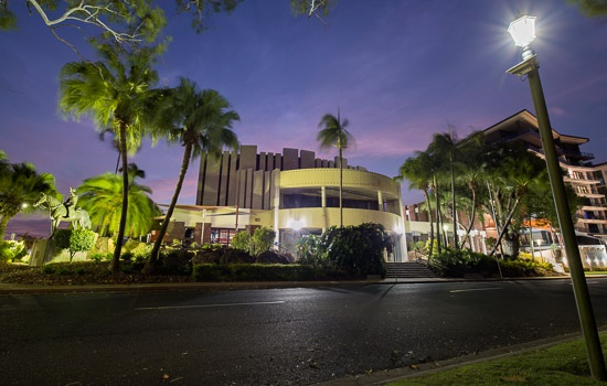 Pilbeam Theatre Rockhampton view from Victoria Parade
